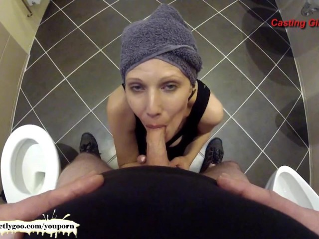 Bathroom POV Blowjob with Sexy MILF Viktoria - German Goo Girls