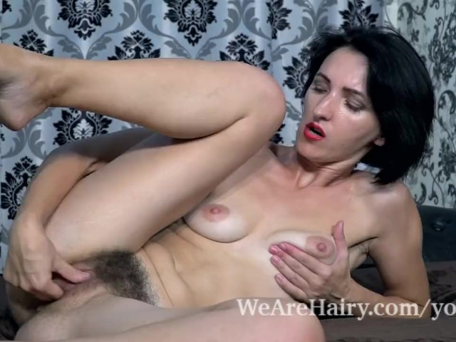 Aglaya has wild orgasms after masturbating