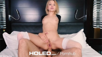 HOLED Tiny girl Dakota Skye gets her ass pounded by huge cock