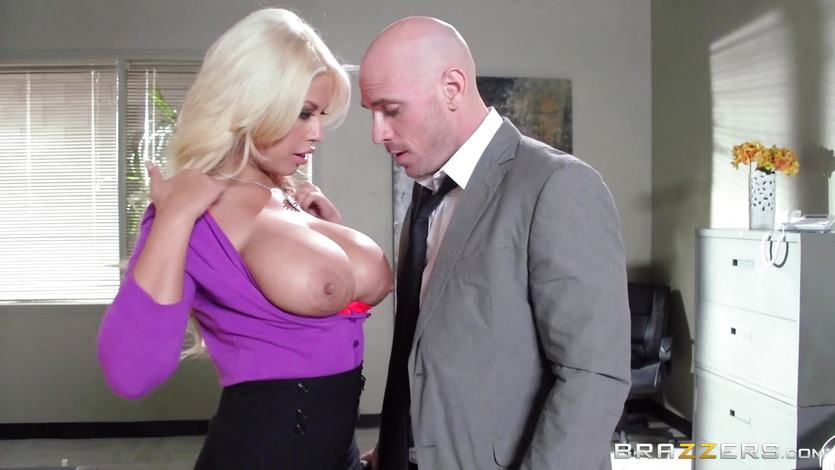 Bank robbing babe Bridgette B fucks in front of the manager | PornTube ®