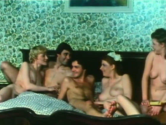 Insanely hot orgy video with extremely horny bimbos - Retro porn