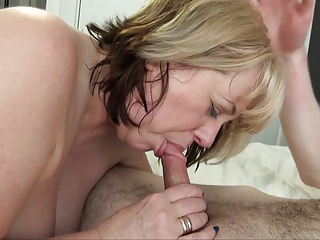 Mature British Fucking a Sexy Young Man