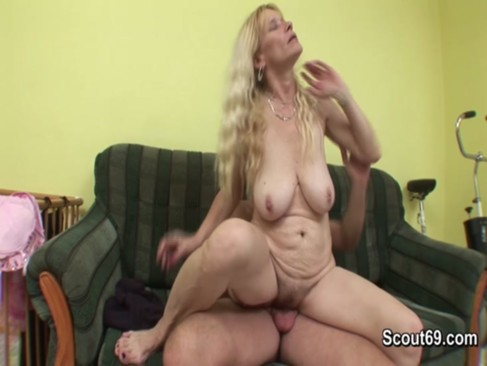 Hairy Mom get fucked by friend of her son