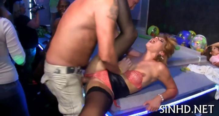 Wet babes get fucked in a packed club on GotPorn