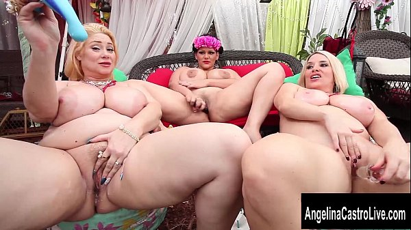 Triple Threat with Angelina Castro's Big Tit Friends! - 7 min HD+