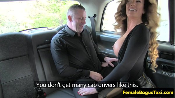 Busty cabbie pounded by passenger on backseat - 10 min